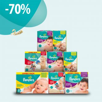 Réduction Pampers : -70%