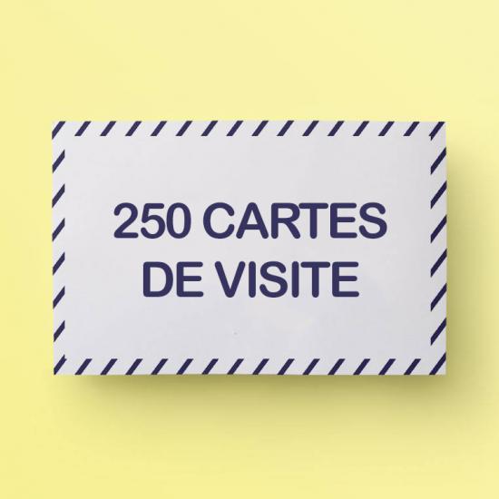 250 Cartes De Visite GRATUITES